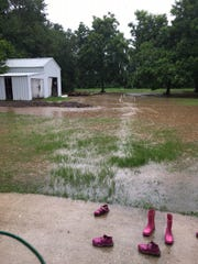 Allison Reviere's house off Fortune Road nearly flooded