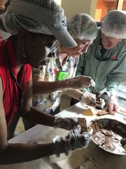 Rosalind making chocolate at Women's Chocolate Cooperative
