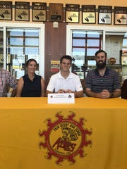 Palm Desert senior soccer player Aaron Gipson signed his national letter of intent Monday to play soccer next year for Indiana University East.