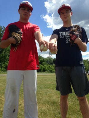 St. Philip has advanced to the Division 4 regionals behind pitchers, from left, Zach Nelson and Ian Mullis.