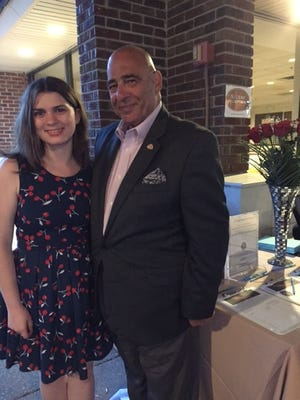 Boys & Girls Clubs of Union County CEO Russell Trioloand Development AssistantMegan Pinna at the evening of Scotch and Cigars.