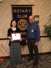 Katherine Gold received the 2017 Four Year Chambersburg Rotary Scholarship.