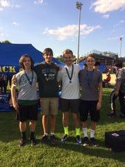 The Kinnelon boys' 4-x-800 relay team qualified for