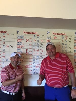 Billy Teichman and John Wallace combined to win the Firecracker partnership golf tournament at Corpus Christi Country Club this weekend.