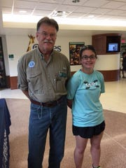 Erika Eichelberger, right, is the newest member of the Falling Spring Chapter of Trout Unlimited. She is pictured with chapter president, Rod Cross.