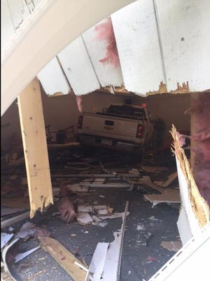A 46-year-old Fowlerville man told police that he fell asleep while driving on Milford Road and crashed into the Christadelphian Church in Lyon Township on Friday.