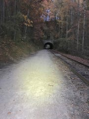 Dusk at Howard Tunnel - Heritage Rail Trail