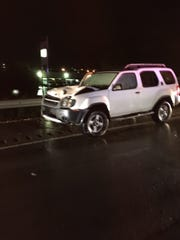 The vehicle that hit officer Brian Murphy on Saturday.
