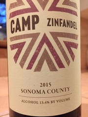 Camp Zinfandel 2015, $17. Sonoma County, California, 13.4 percent alcohol Lively and light version of zinfandel.