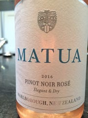Matua Pinot Noir Rosé 2016, $13. Marlborough, New Zealand, 12 percent alcohol. A rosé even my wife grudgingly admitted was delightful. I agree. Can't beat the price.