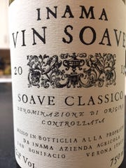 Inama Vin Soave, 2015  $20. A good example of higher end Soave with body and minerality. Soave Classico 12 percent alcohol, Verona, Italy.