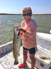 DeeAnn Griffin caught this 32.5-inch trout while fishing in the Upper Laguna Madre with her husband Ken Griffin.