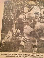 Grant Guthrie kicks a game-tying field goal against