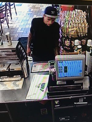 Police released this still picture of the man who they say robbed the Subway on Dana Drive on Tuesday evening.