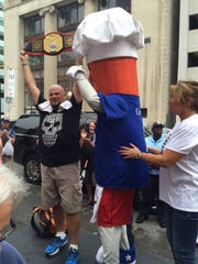 Matt Holowicki was the 2016 winner of the Coney dog Eating Challenge at American Coney Island