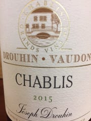 Drouhin-VandonChablis 2015(Chardonnay). Chablis, France; $25; 12.5% alcohol.
