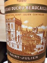 Chateau Ducru-Beaucaillou, 1986; Bordeaux blend, Cabernet