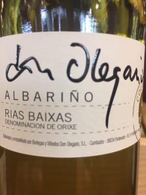 Don Olegarin Albarino 2015 Rias Baixas, Spain, $22 13% alcohol Lean, dry and mineral elements
