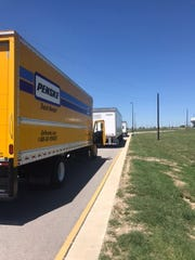 The caravan of relief supplies  from the Jersey Shore making its way toward Austin, Texas.