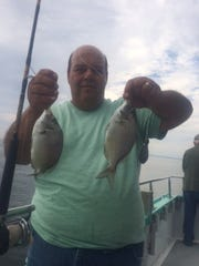 Gerard Tallarido, Upper Freehold, with a pair of porgies