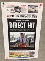 The News-Press front page for Monday, Sept. 11. Irma