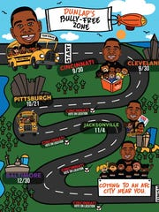 Carlos Dunlap unveiled this map as he takes his anti-bullying