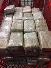 U.S. Customs and Border Protection officers seized more than 400 pounds of marijuana in five separate cases Wednesday.