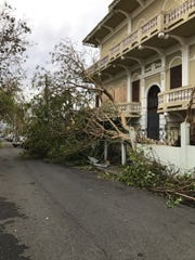 Damage is seen in San Juan, Puerto Rico following Hurricane