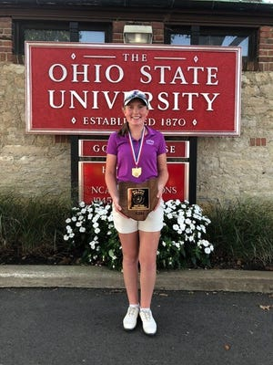 Eaton senior Sarah Willis repeated as Ohio Division II state champion after breaking her single-day record with a round of 67 Saturday.
