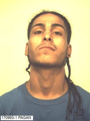 Joshua Pagan, 22, was arrested on multiple drug charges Wednesday.