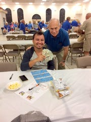 Knights of Columbus San Marco Council #6344 held the first Bingo Night Charity Fundraiser of Fall 2017 on Oct. 19 in the San Marco Parish Center. Bingo runs every Thursday through Nov. 16 with doors opening at 5:30 and Bingo starting at 7 p.m.  This event is open to the public. Above, jackpot winner Sergio Balaguera of Marco Island.