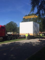 Craters & Freighters packaged a 34,000-pound Chinook helicopter simulator from Fort Rucker and shipped it overseas.