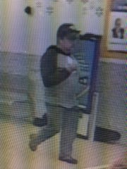 Marathon County Crime Stoppers is asking for your help to identify the male who stole a wallet in the township of Rib Mountain, and made several fraudulent purchases that same day. The male suspect is described as a white male, approximately 6-feet tall, weighing 230-pounds, wearing glasses a black hat with a Porsche or Ferrari emblem, a gray shirt with long black sleeves with a black hood, and black pants. It is believed he had an Eastern European accent.