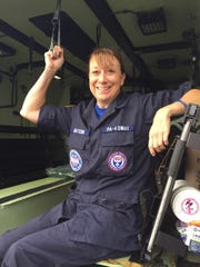 Cheryl Mattern and her team were transported throughout the country on Blackhawk helicopters.