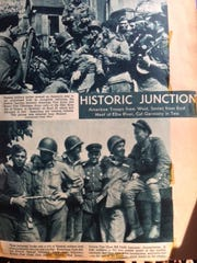 World War II clippings from a variety of sources are
