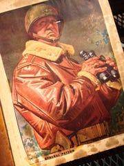 An illustration depicting Gen. George Patton is part
