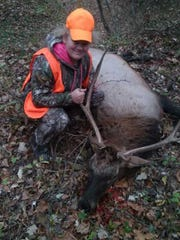 Abby Wilson accidentally shot this bull elk Saturday,