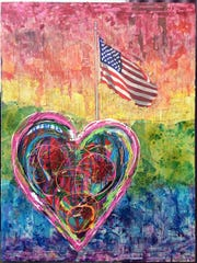A piece of art created by local artist Meredith Tanzer.