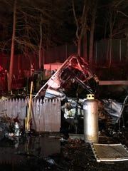 A dog was killed in a mobile home fire December 6,