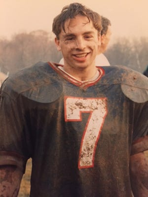Alex Hayden right after NV/Demarest beat Wayne Valley in the 1992 Group 3 sectional championship game.