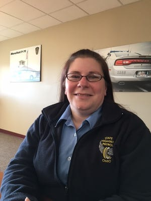 Jennifer Hatfield has been named Dispatcher of the Year at the Mansfield post of the Ohio Highway Patrol