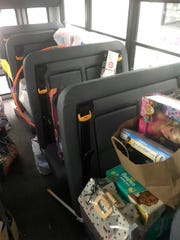 The Learning Experience South Lyon's bus packed with donations for the Lacasa Shelter.