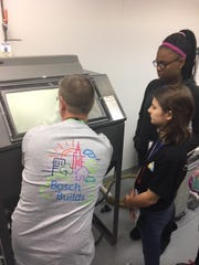 Students learning about rapid prototyping at Bosch.