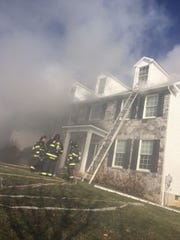 York Area United Fire and Rescue crews quickly doused