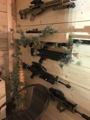 Some of the weapons found in the Brandon home of Artis