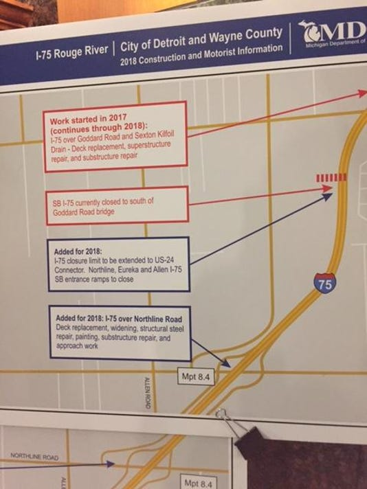 Rouge River Michigan Map.Drivers Seek Answers On I 75 Rouge River Project