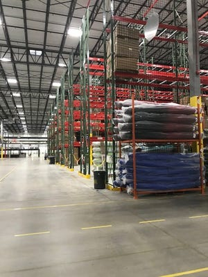 Inside the warehouse at the new Dick's Distribution Center in Conklin.
