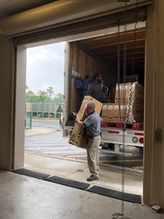 Volunteers for Mission Love Seeds and their partners loaded bicycles for delivery to Pinecrest Elementary in Immokalee.