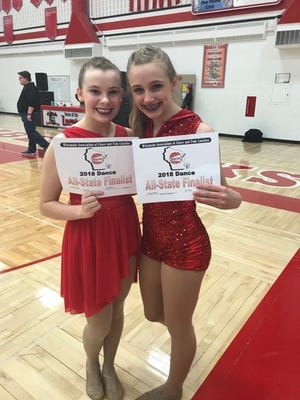 D.C. Everest's Ava Bedessam and Sierra Zellner are regional qualifiers for the all-state dance team.