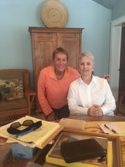 Carly DeThorn, 73, with the woman who cared for her